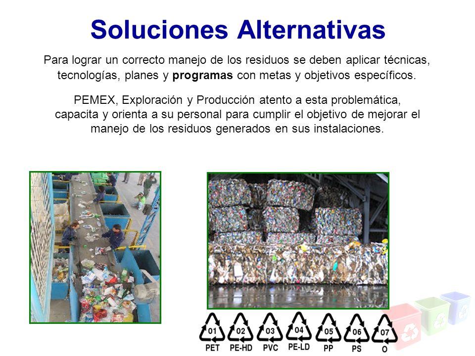 Soluciones Alternativas