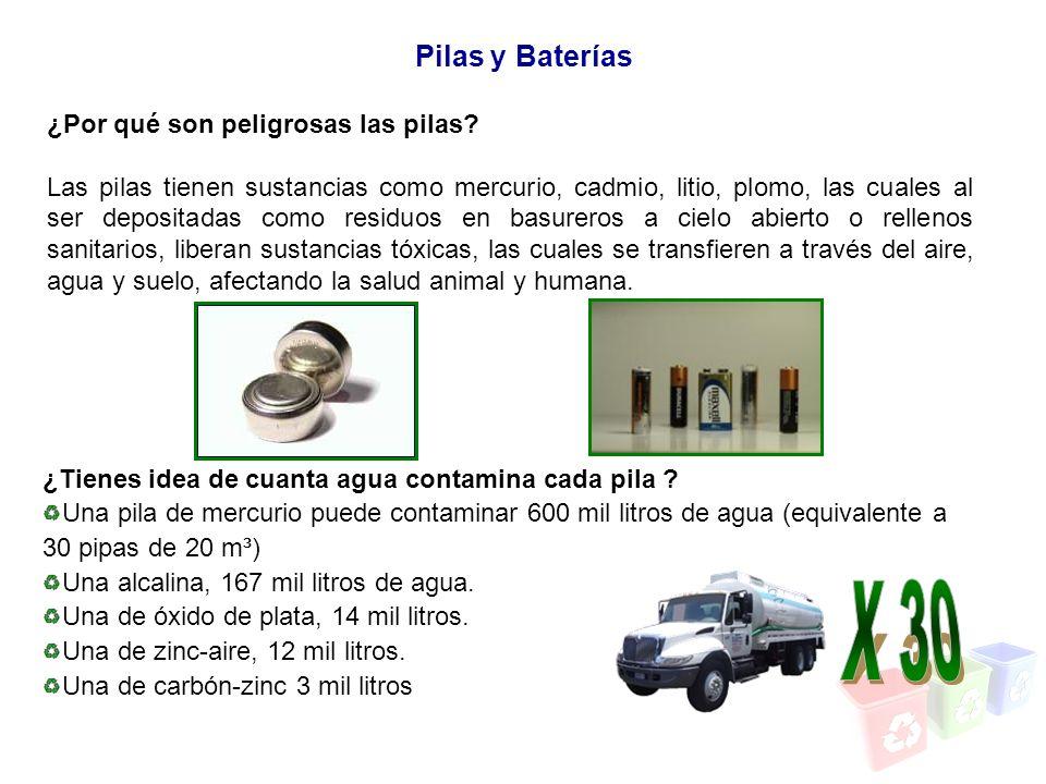 X 30 Pilas y Baterías ¿Por qué son peligrosas las pilas
