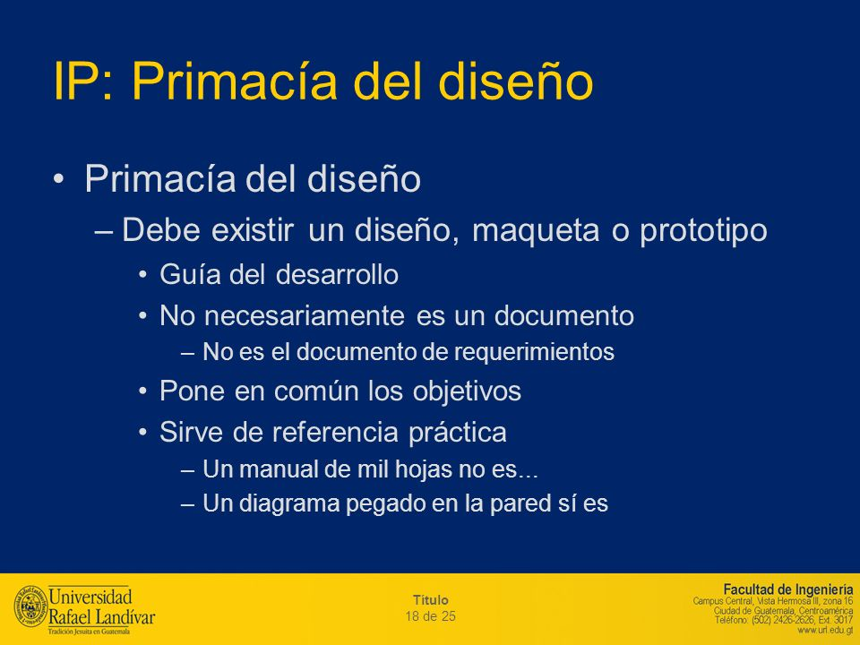 IP: Primacía del diseño