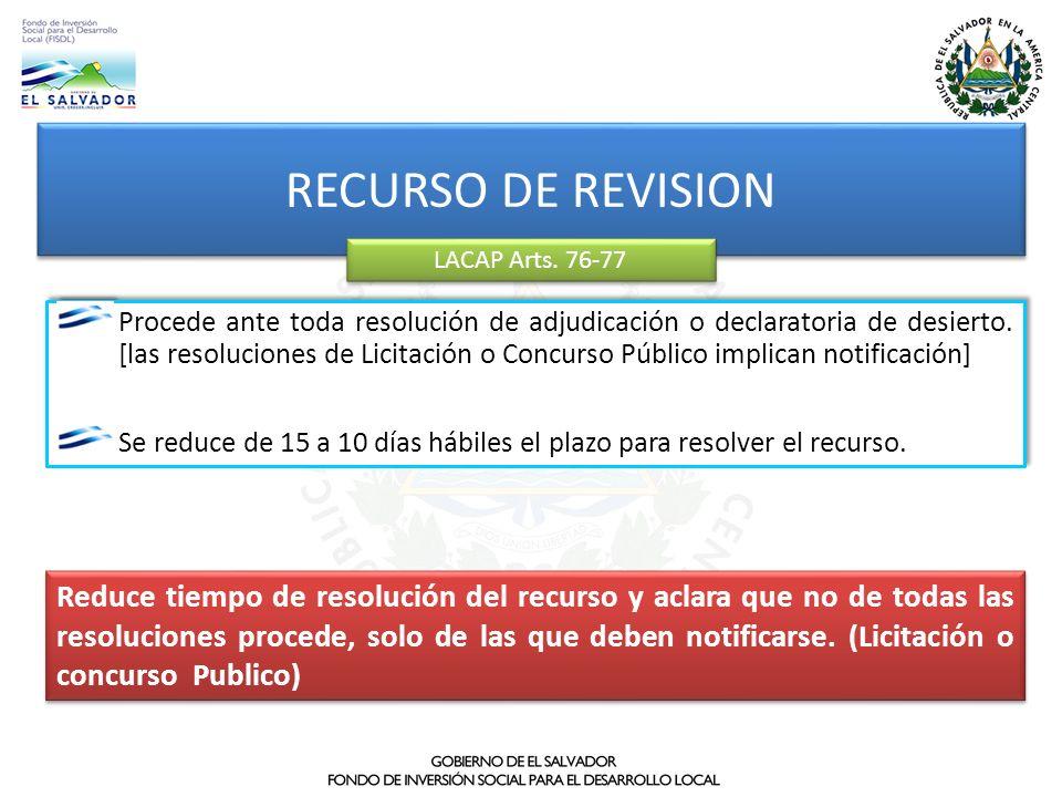 RECURSO DE REVISION LACAP Arts. 76-77.