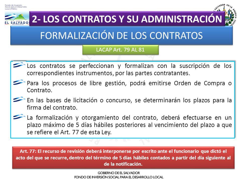 2- LOS CONTRATOS Y SU ADMINISTRACIÓN