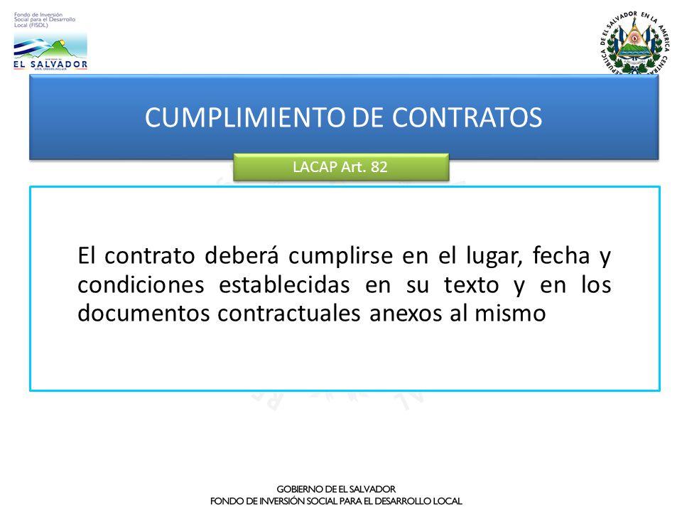 CUMPLIMIENTO DE CONTRATOS