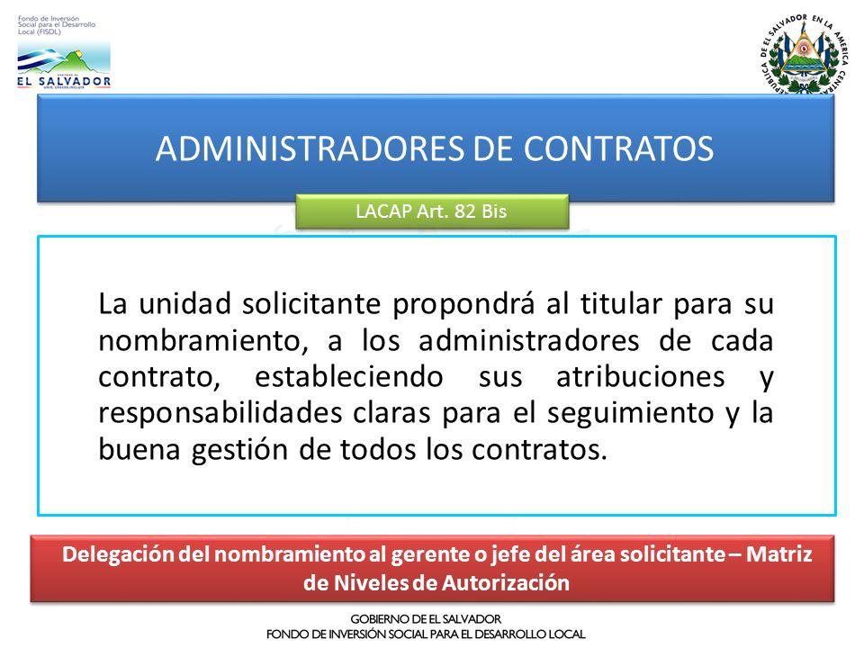 ADMINISTRADORES DE CONTRATOS