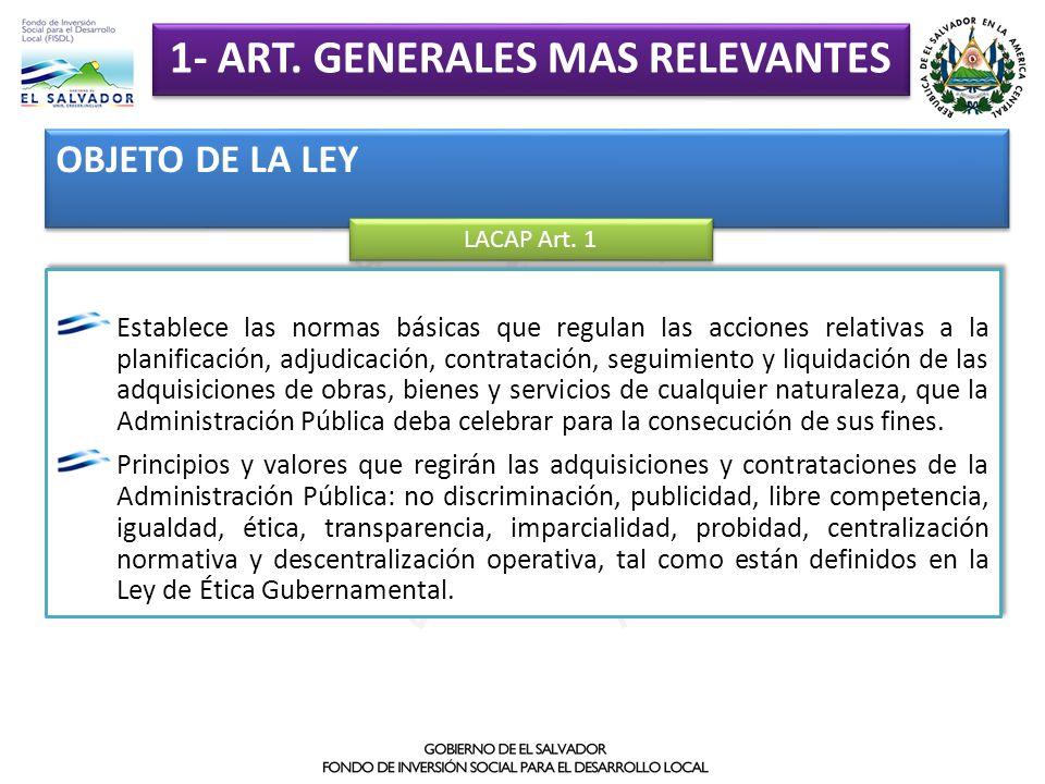 1- ART. GENERALES MAS RELEVANTES