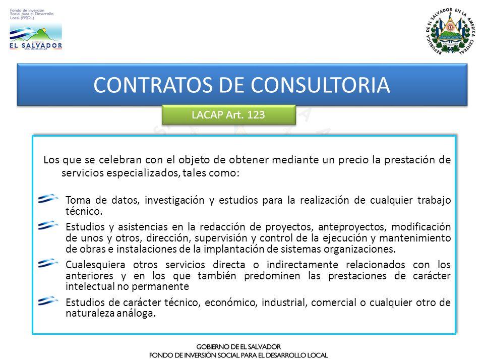 CONTRATOS DE CONSULTORIA