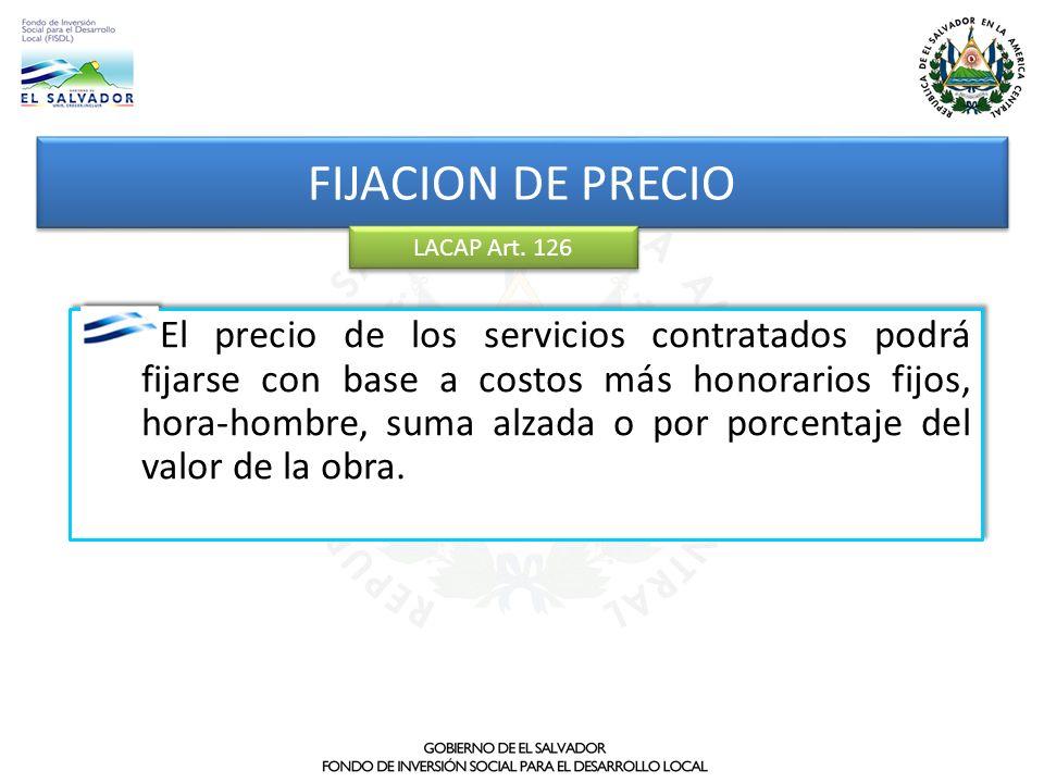 FIJACION DE PRECIOLACAP Art. 126.