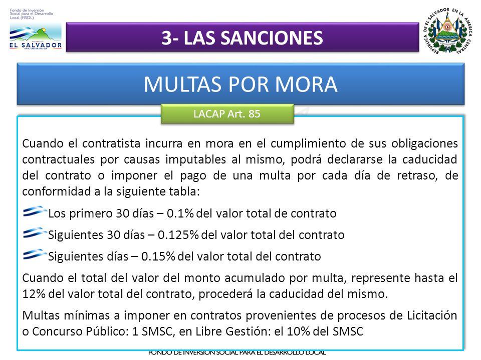 MULTAS POR MORA 3- las sanciones