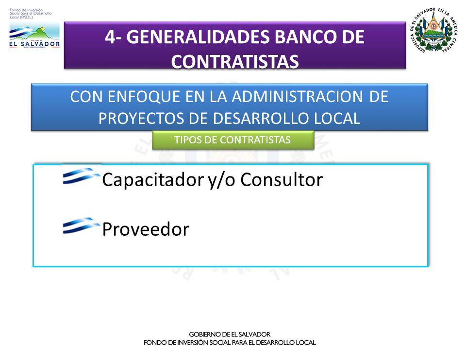 4- GENERALIDADES BANCO DE CONTRATISTAS