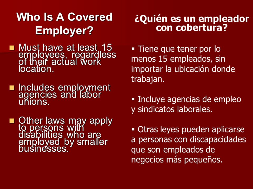 Who Is A Covered Employer