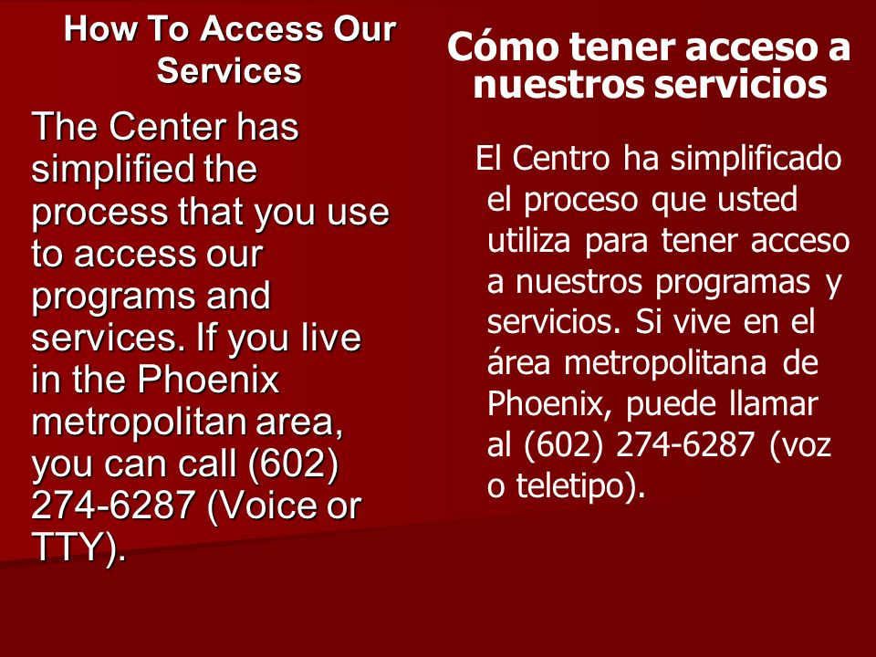 How To Access Our Services