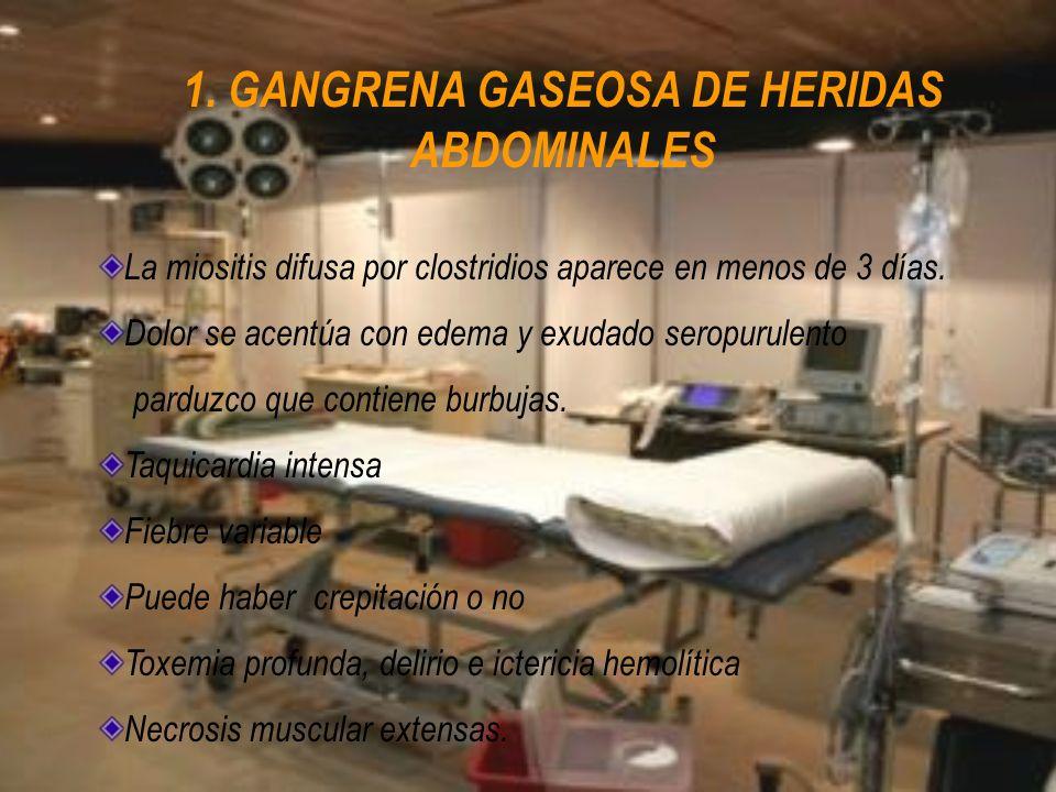 1. GANGRENA GASEOSA DE HERIDAS ABDOMINALES