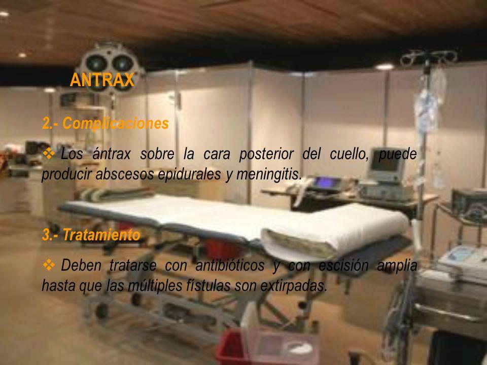ANTRAX 2.- Complicaciones