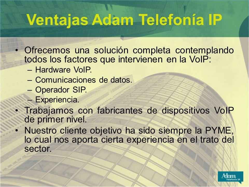 Ventajas Adam Telefonía IP