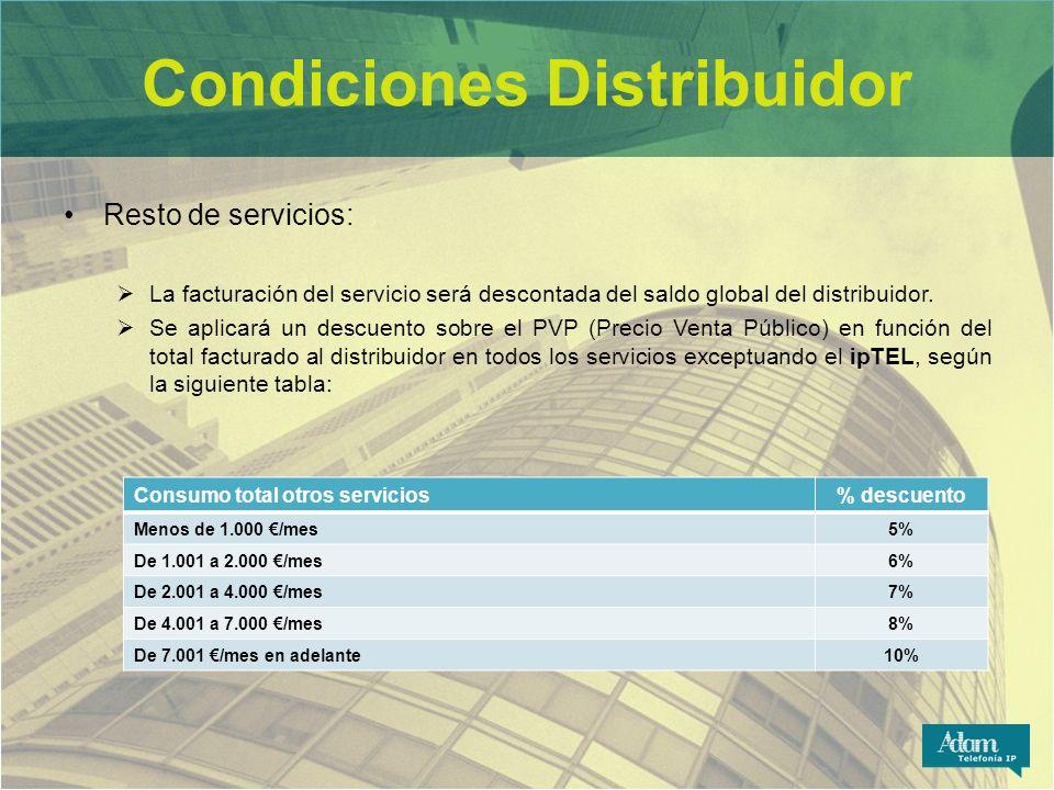 Condiciones Distribuidor