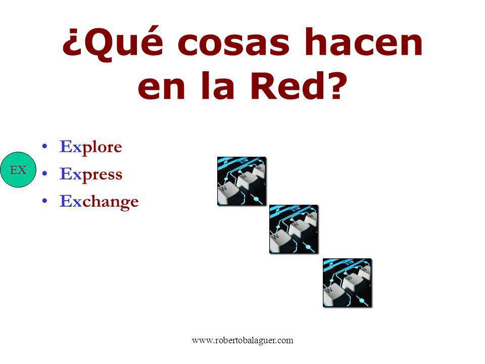 ¿Qué cosas hacen en la Red