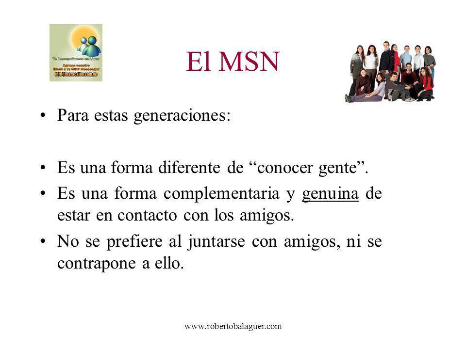 El MSN Para estas generaciones: