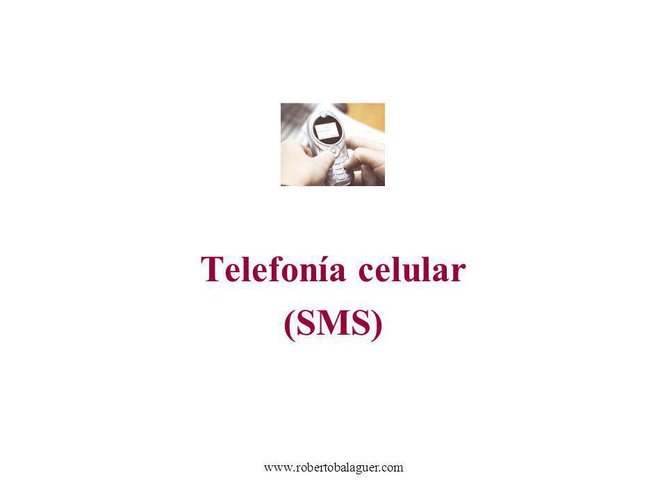 Telefonía celular (SMS)