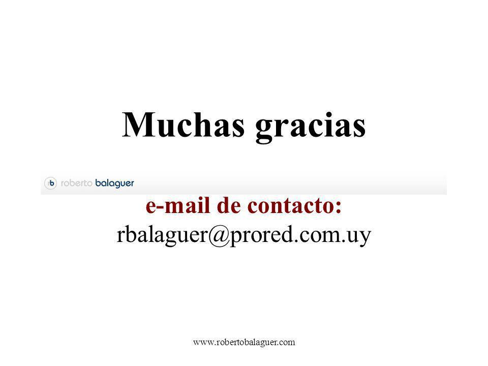 e-mail de contacto: rbalaguer@prored.com.uy