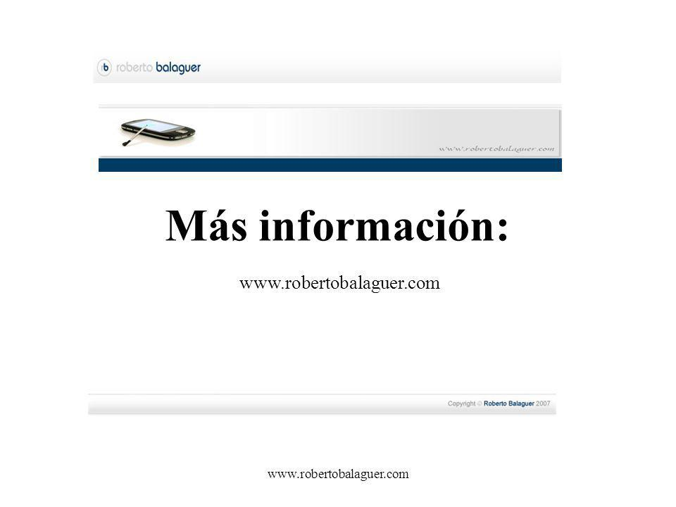 Más información: www.robertobalaguer.com www.robertobalaguer.com