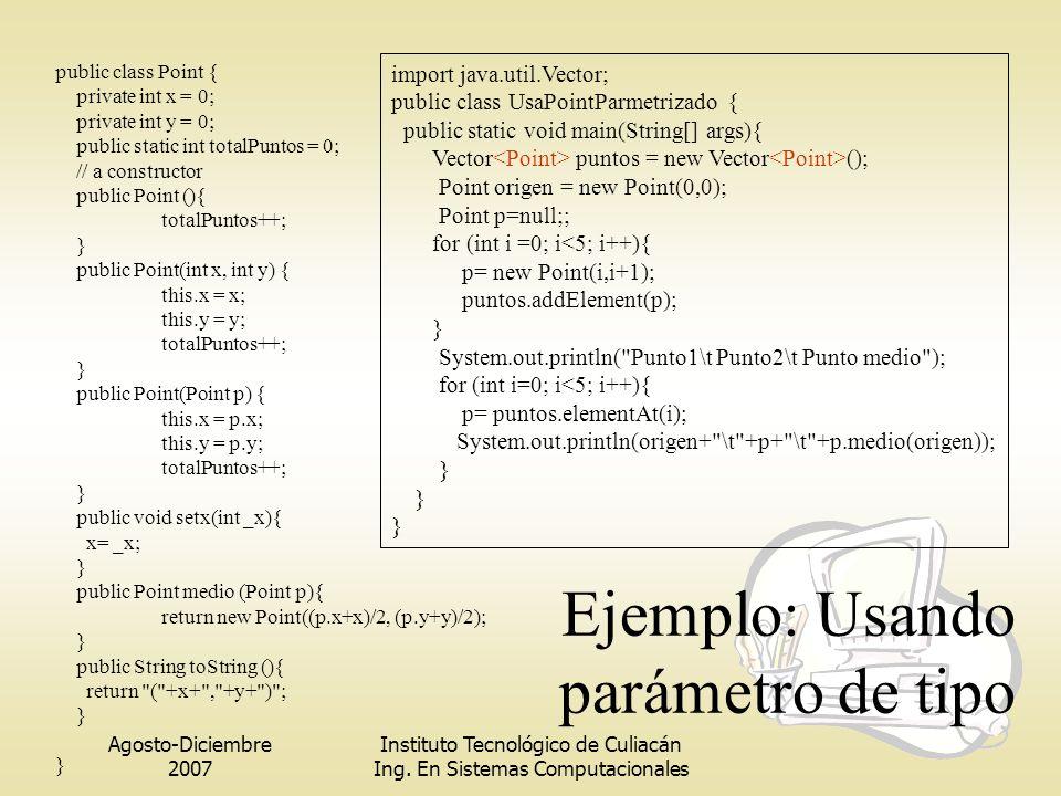 Ejemplo: Usando parámetro de tipo