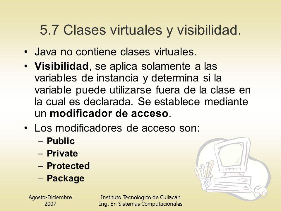 5.7 Clases virtuales y visibilidad.