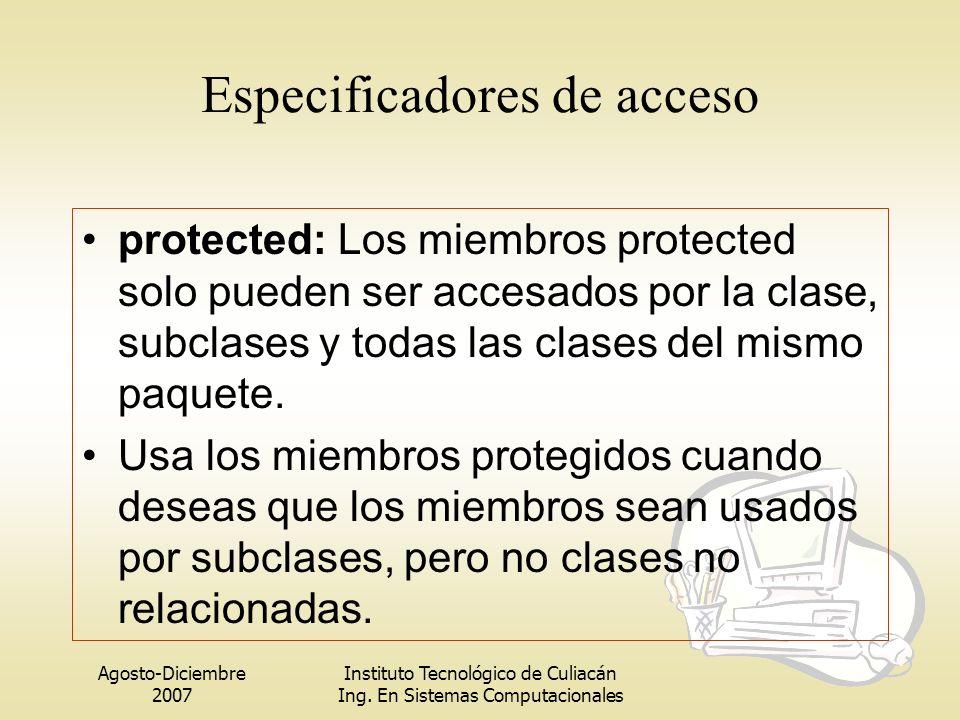 Especificadores de acceso