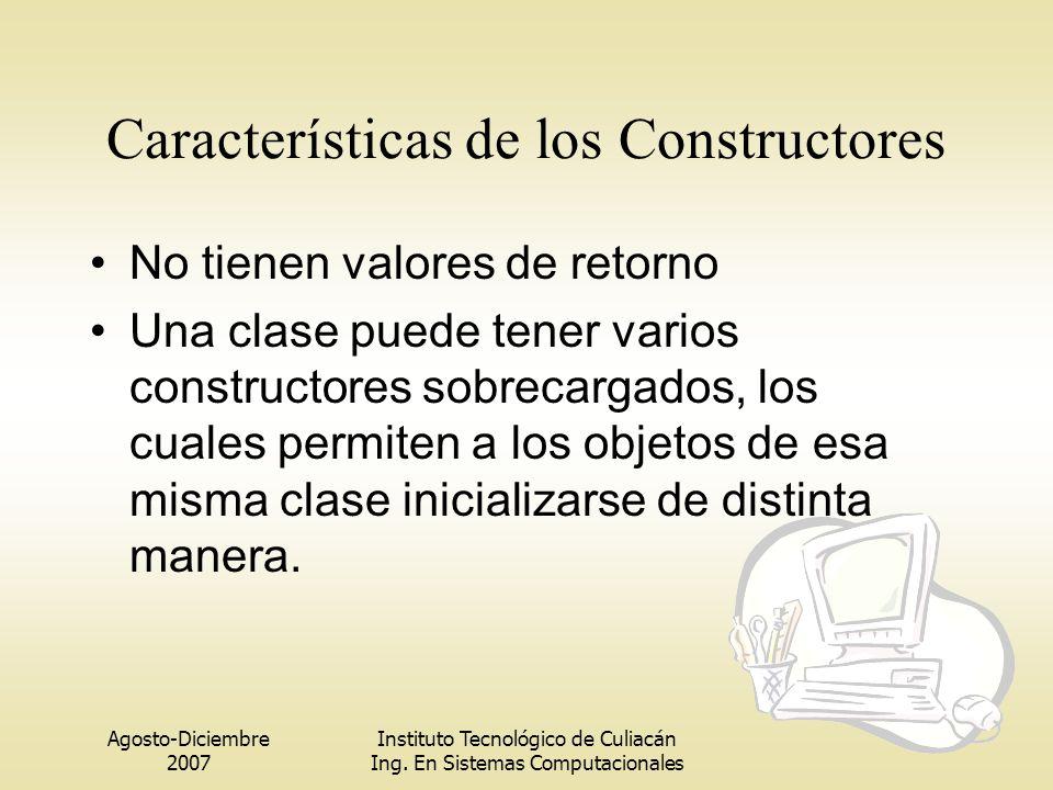 Características de los Constructores