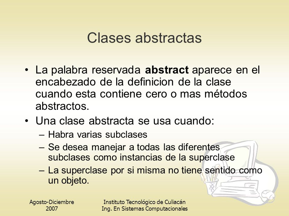 Clases abstractas