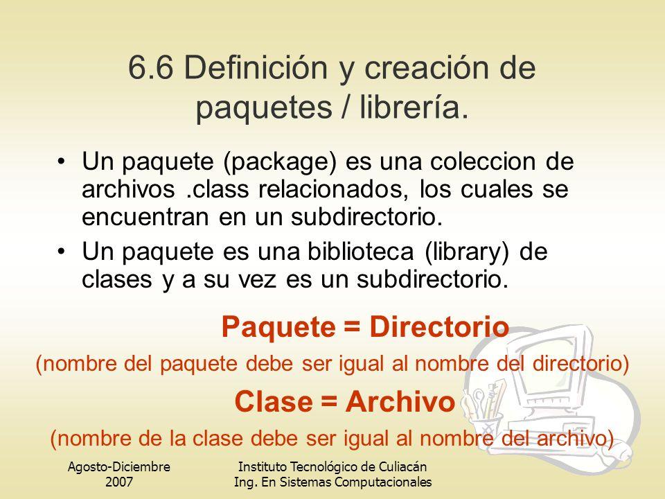 6.6 Definición y creación de paquetes / librería.