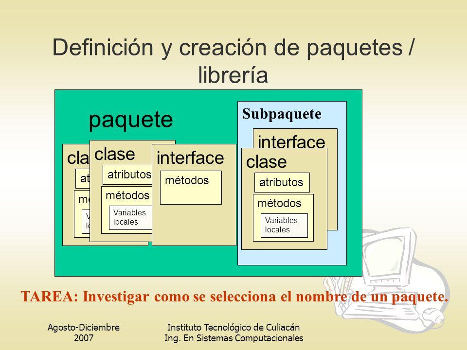 Definición y creación de paquetes / librería