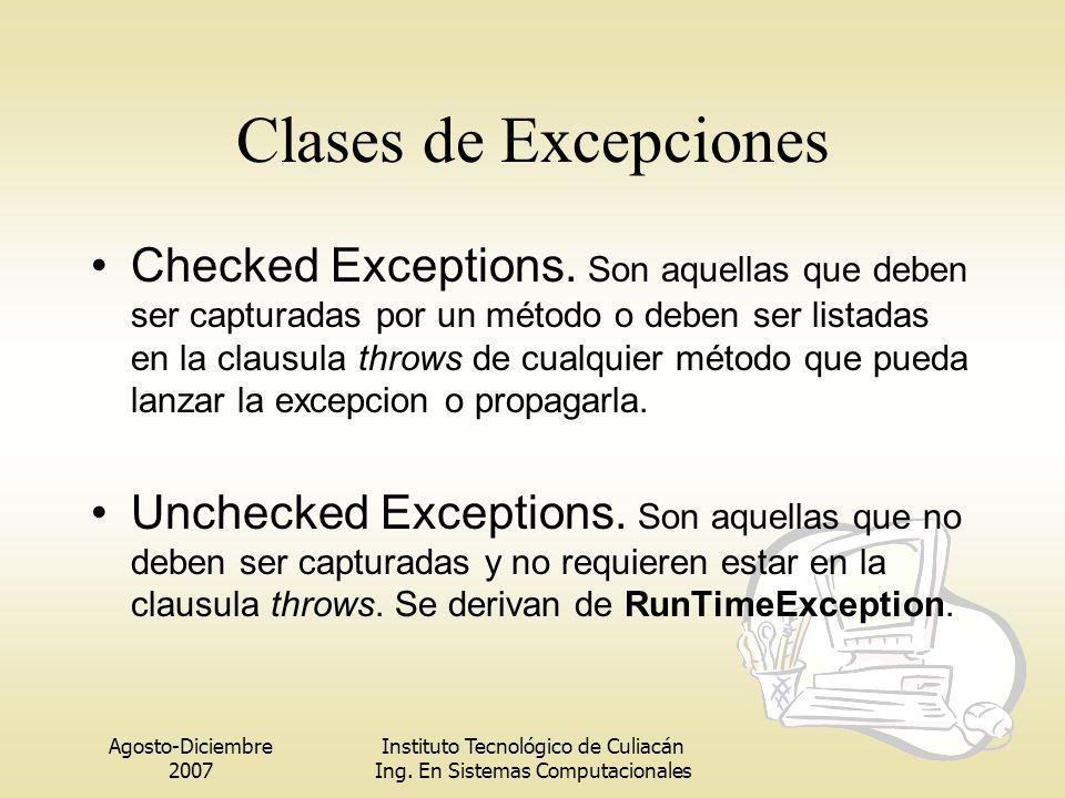 Clases de Excepciones