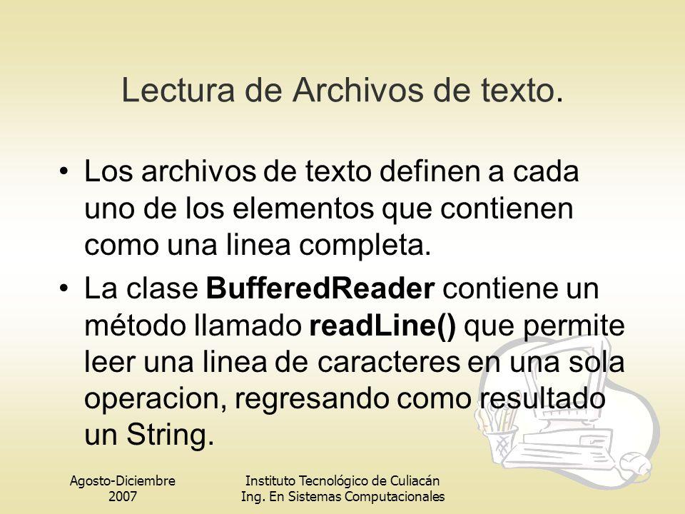 Lectura de Archivos de texto.