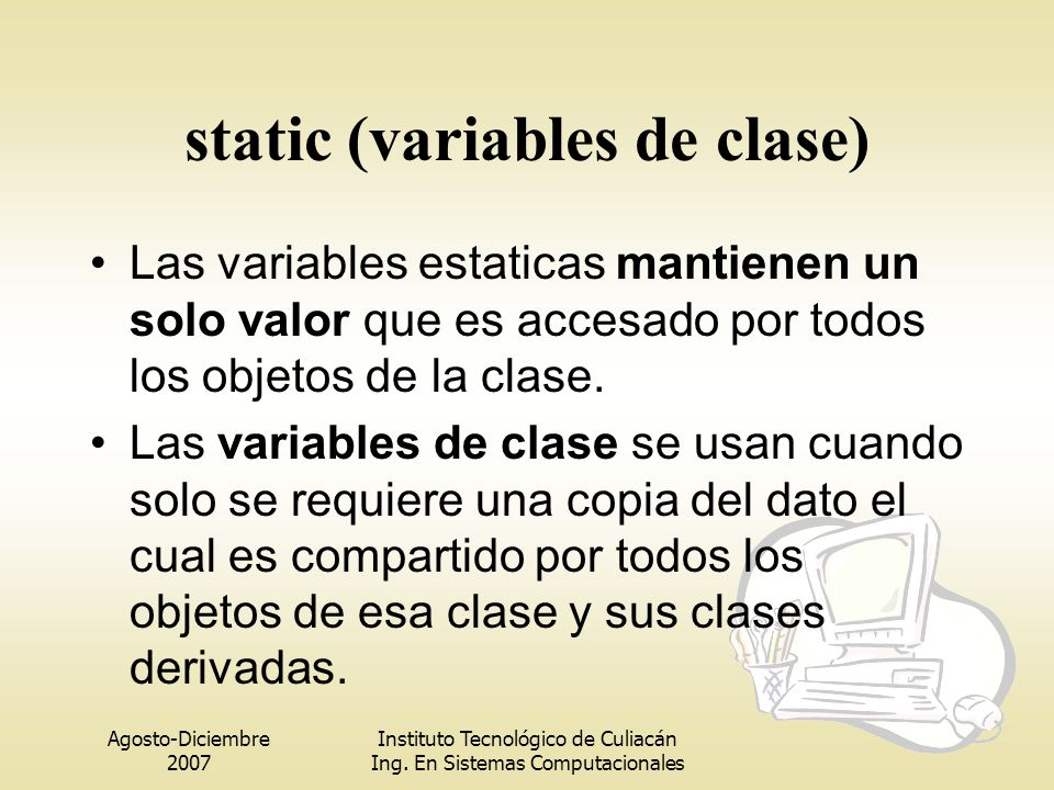 static (variables de clase)
