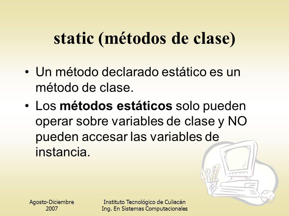 static (métodos de clase)