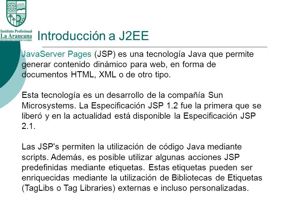 Introducción a J2EE