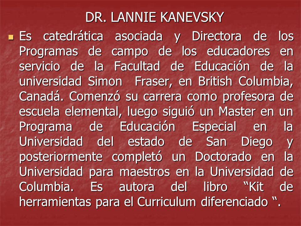 DR. LANNIE KANEVSKY