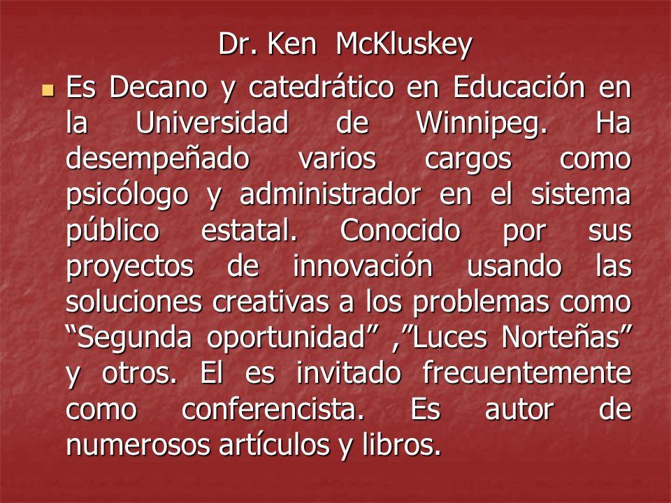 Dr. Ken McKluskey