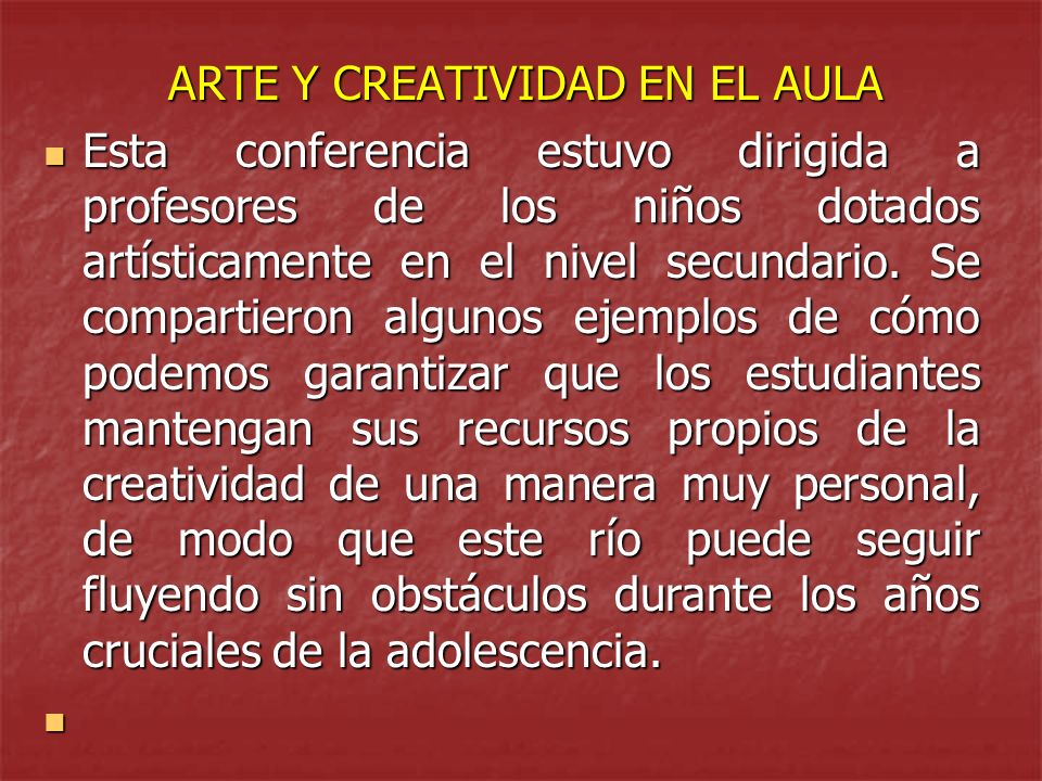 ARTE Y CREATIVIDAD EN EL AULA