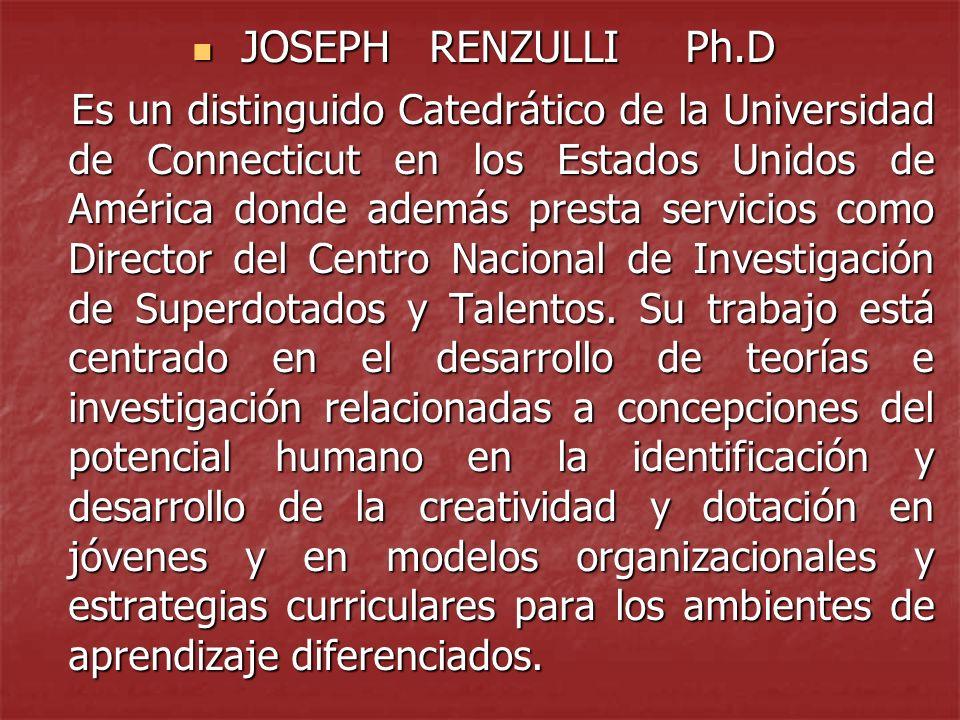 JOSEPH RENZULLI Ph.D