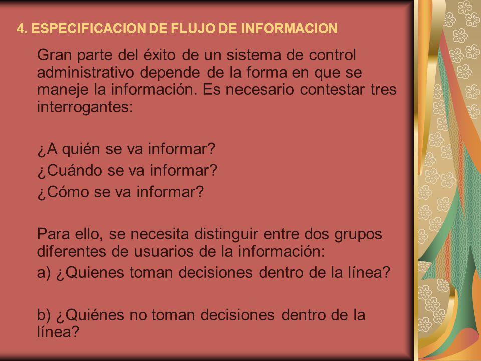 4. ESPECIFICACION DE FLUJO DE INFORMACION
