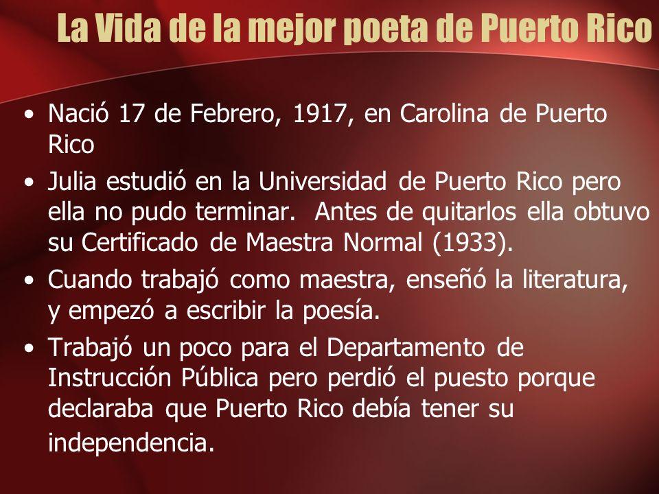 La Vida de la mejor poeta de Puerto Rico
