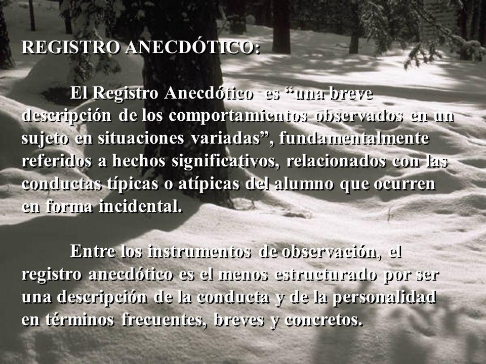 REGISTRO ANECDÓTICO: