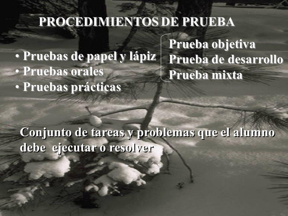 PROCEDIMIENTOS DE PRUEBA