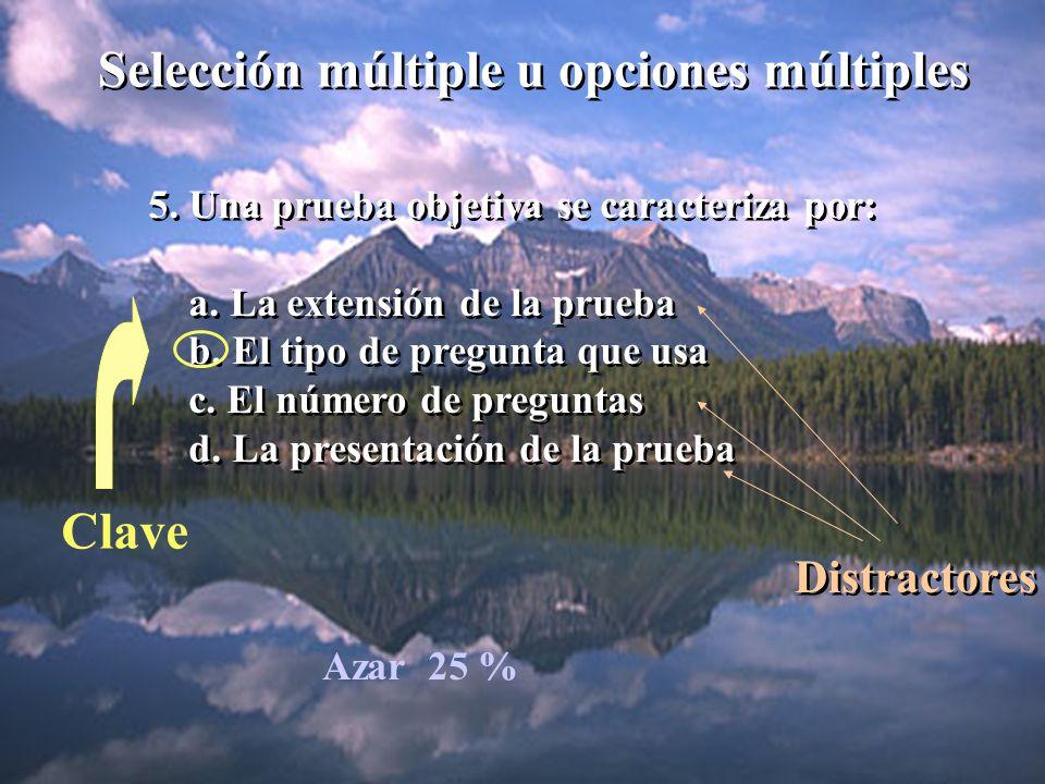 Selección múltiple u opciones múltiples