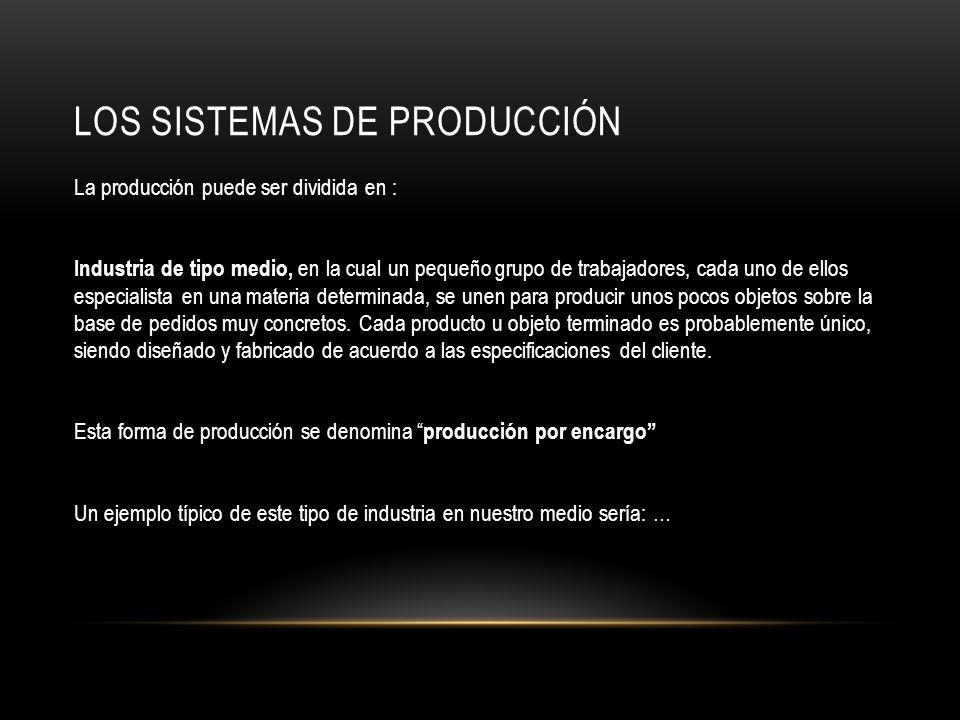 LOS SISTEMAS DE PRODUCCIÓN