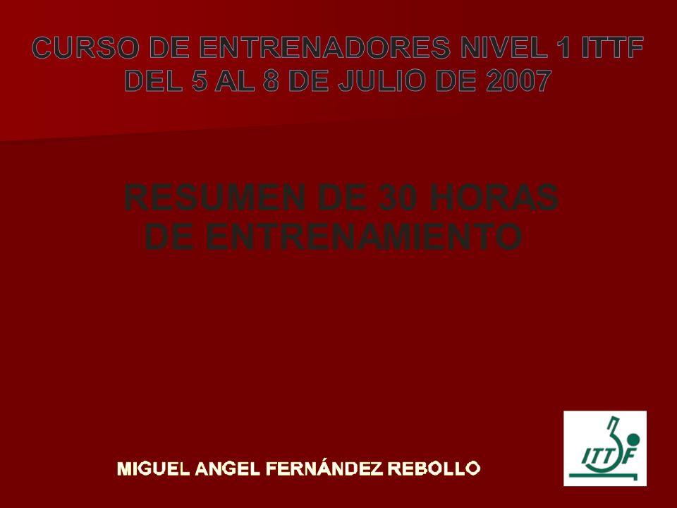RESUMEN DE 30 HORAS DE ENTRENAMIENTO
