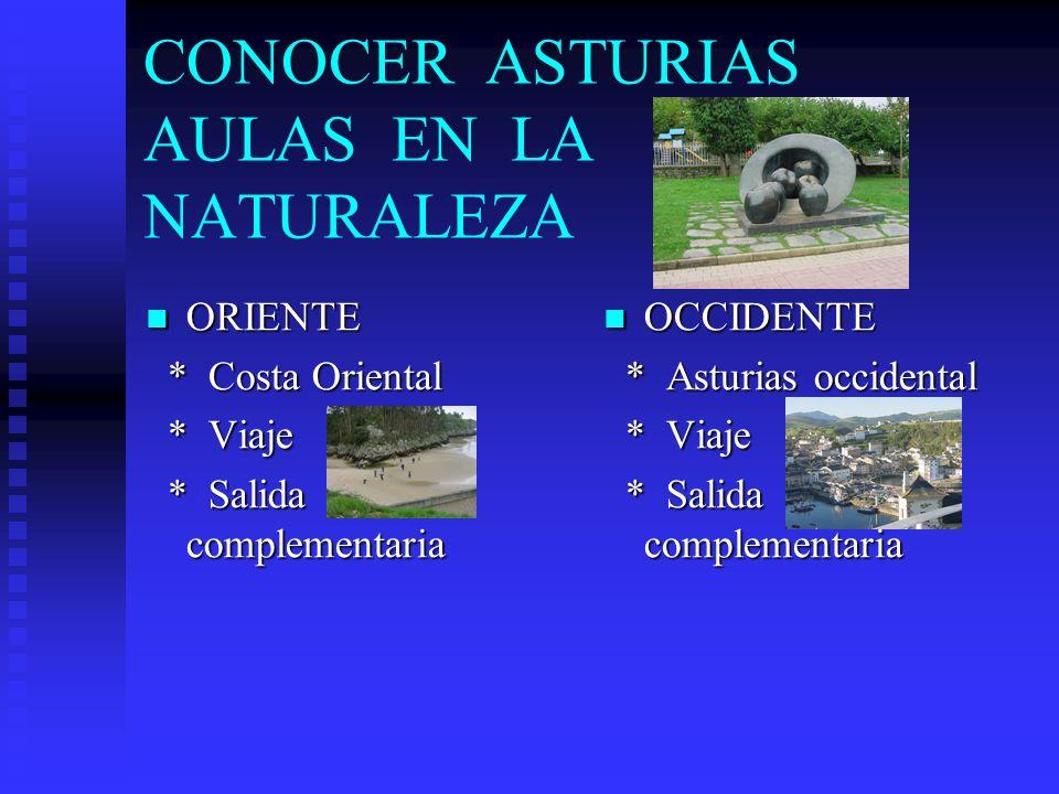 CONOCER ASTURIAS AULAS EN LA NATURALEZA