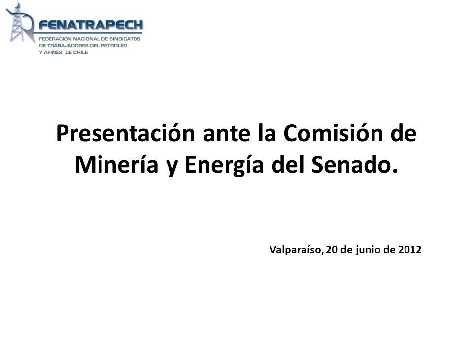 Presentación ante la Comisión de Minería y Energía del Senado.