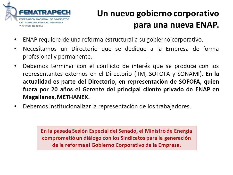 Un nuevo gobierno corporativo para una nueva ENAP.