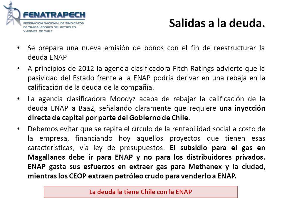 La deuda la tiene Chile con la ENAP